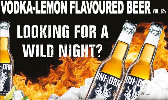 Vodka-Lemon flavoured beer